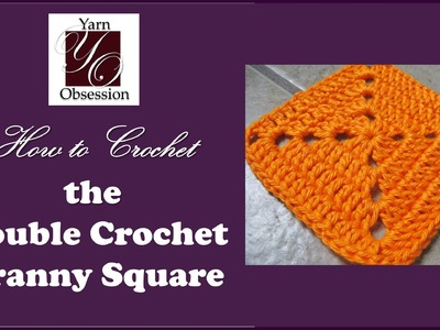 How to crochet - Double Crochet Granny Square