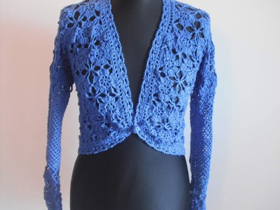 How to crochet elegant jacket bolero free pattern tutorial