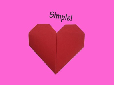 How to fold an origami heart - paper - simple - craft - paper work - hand work - folding instruction