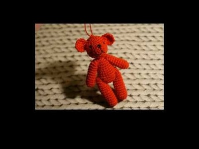 How to make a little crochet teddy bear - easy :)