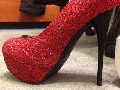 HOWTO DIY: glitter your own heels