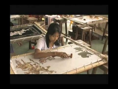 Introduction to Kalaga Tapestry in Myanmar - History ,Craft in Process and the workshop atmosphere