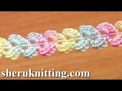 Lace Cord Ribbon Braid How to Crochet Tutorial 33 Single Crochet Stitch