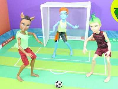 Make a Doll Soccer Ball and Portable Stadium. Field- Doll Crafts