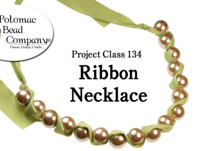 Make a Ribbon and Bead Necklace