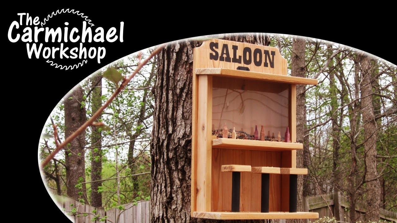 Make a Saloon Bird Feeder - Easy DIY Weekend Woodworking Project