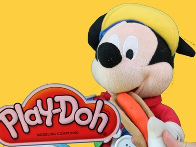 Mickey Mouse makes PLAY-DOH HOT DOG  Play dough Tutorial DIY Playdough AllToyCollector