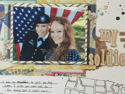 My Sister Is A Soldier (Scrapbook Process Video)