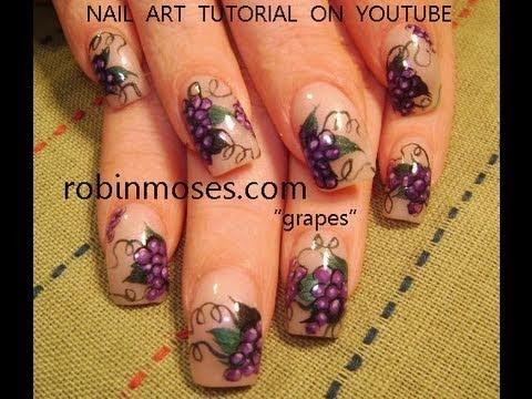 Гроздь винограда на ногтях фото
