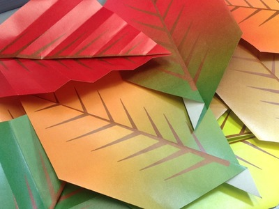 Origami Fall Autumn Leaves - Print Your Own Paper!