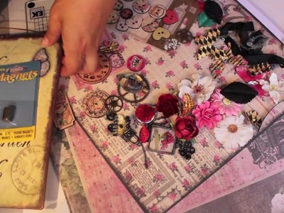 Scrapbooking Creating Decorative PRIMA Magnets & Board How-To