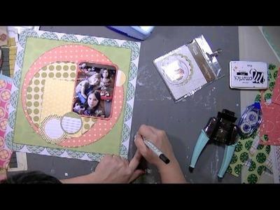 Scrapbooking Process: Barbie Girls layout