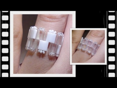 Square Mania Ring Beading Tutorial by HoneyBeads1