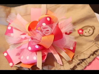 SUPER DUPER LOOPER hair bow tutorial ; ) (It's tutu cute!)
