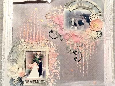 SWAP With Rina--Scrapbook Layout: Wedding Theme (Start-To-Finish)