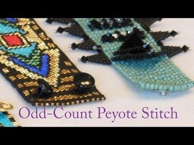 Artbeads Mini Tutorial - Odd-Count Peyote with Leslie Rogalski