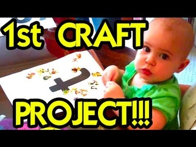 BABY'S FIRST ART & CRAFTS!!! - TheFunnyrats Family Vlog