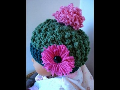 BOBBLE STITCH HAT, crochet pattern, SweetPotatoPattern # spp106,