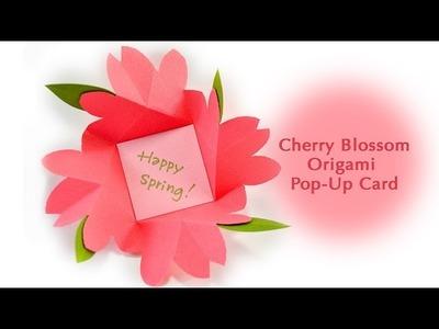 Cherry Blossom Origami Pop Up Card