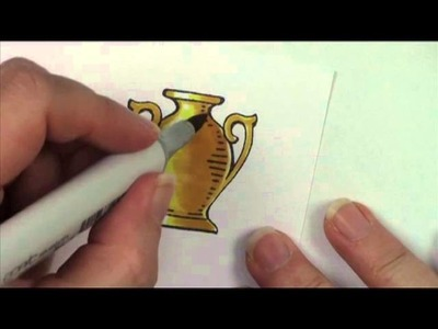 Copic in the Craft Room: Coloring Gold with Copic Markers