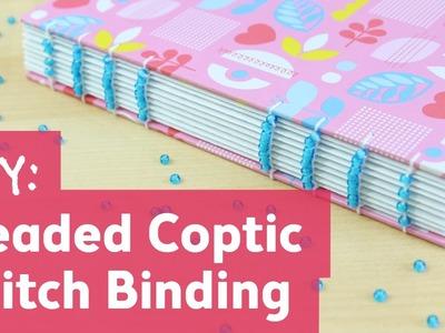 Coptic Stitch Binding with Beads