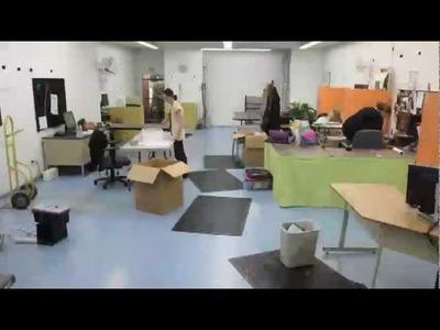 Craft Design Room Reorganization Flip