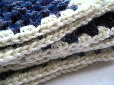 Crochet Modern Granny Stripe Baby Blanket