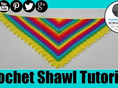 Crochet Rainbow Shawl Tutorial