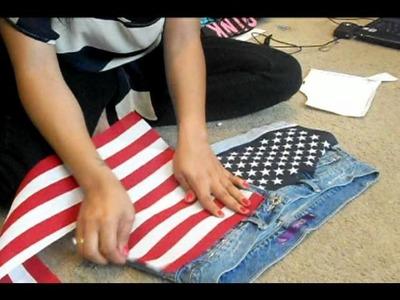DIY American flag shorts tutorial