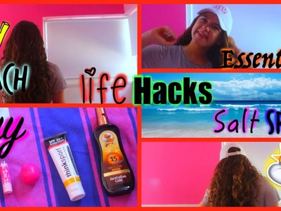 DIY Beach Day:Life Hacks,Essentials and Salt Spray
