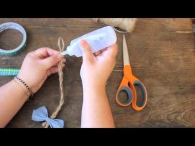 DIY: Braided Twine Bracelet