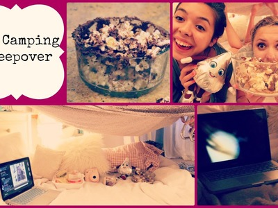 DIY Camping Sleepover: Setup, Food, & MORE!!!