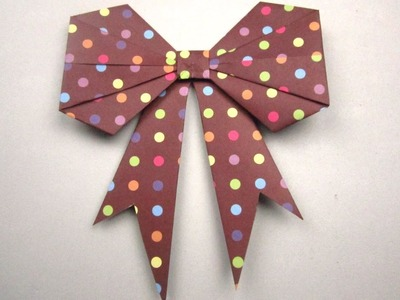 {DIY Christmas}❄Origami Gift Bow