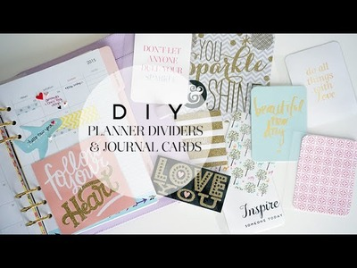 DIY Cute Planner Dividers & Journal Cards | Charmaine Dulak