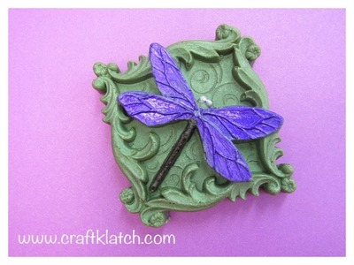 DIY Dragonfly Embellishment Craft How To