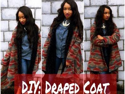 DIY: Draped Coat