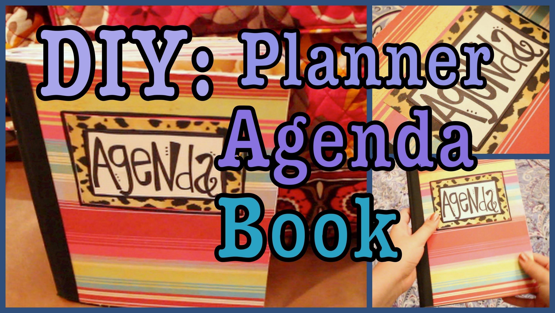 DIY: Planner. Agenda Book!