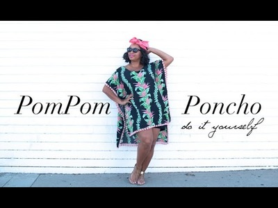 {DIY} Pom Pom Poncho