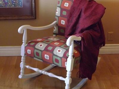 DIY Rocking Chair Upholstery. Como Forrar uma Cadeira Voce Mesmo.