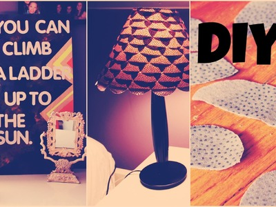 DIY | Smudged Quote Painting + Fabric Scalloped Lamp