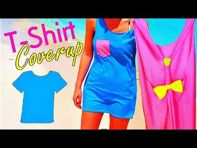 DIY T-Shirt Beach Swimsuit Coverup :: 2CupsofDelight