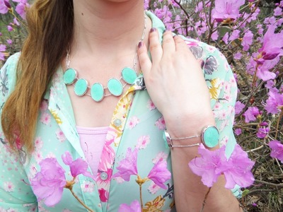DIY Two Strand Beaded Statement Necklace and Bracelet Set (AKA Sea Glass Necklace & Bracelet Set)