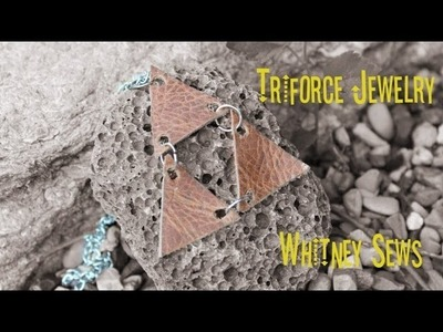 DIY Zelda Triforce Necklace by Whitney Sews