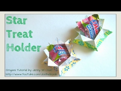 EASTER CRAFTS - How to Fold Origami Box.Star Box - Treat & Candy Holder, Basket, Party Favors