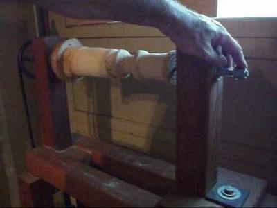 Homemade Wood Lathe Headstock.wmv
