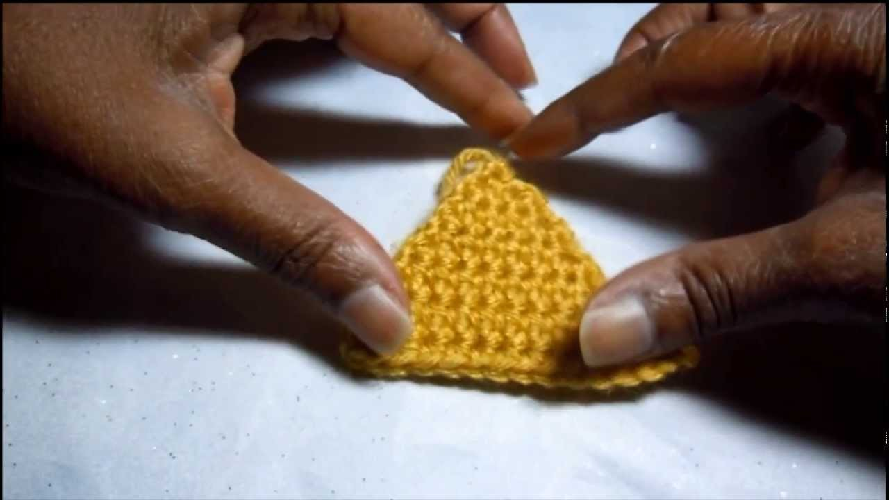 How to Crochet a Triangle shape