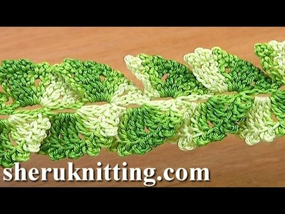 How to Crochet Ribbon Lace Tape Tutorial 27 Picots Around