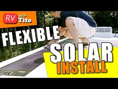 How to Install a Flexible Solar Panel - DIY RV Solar