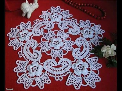 How to irish crochet doily free pattern