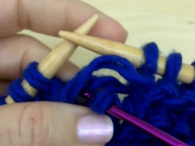 How to knit - how to fix a dropped Purl stitch - [knitting tutorial for beginners]